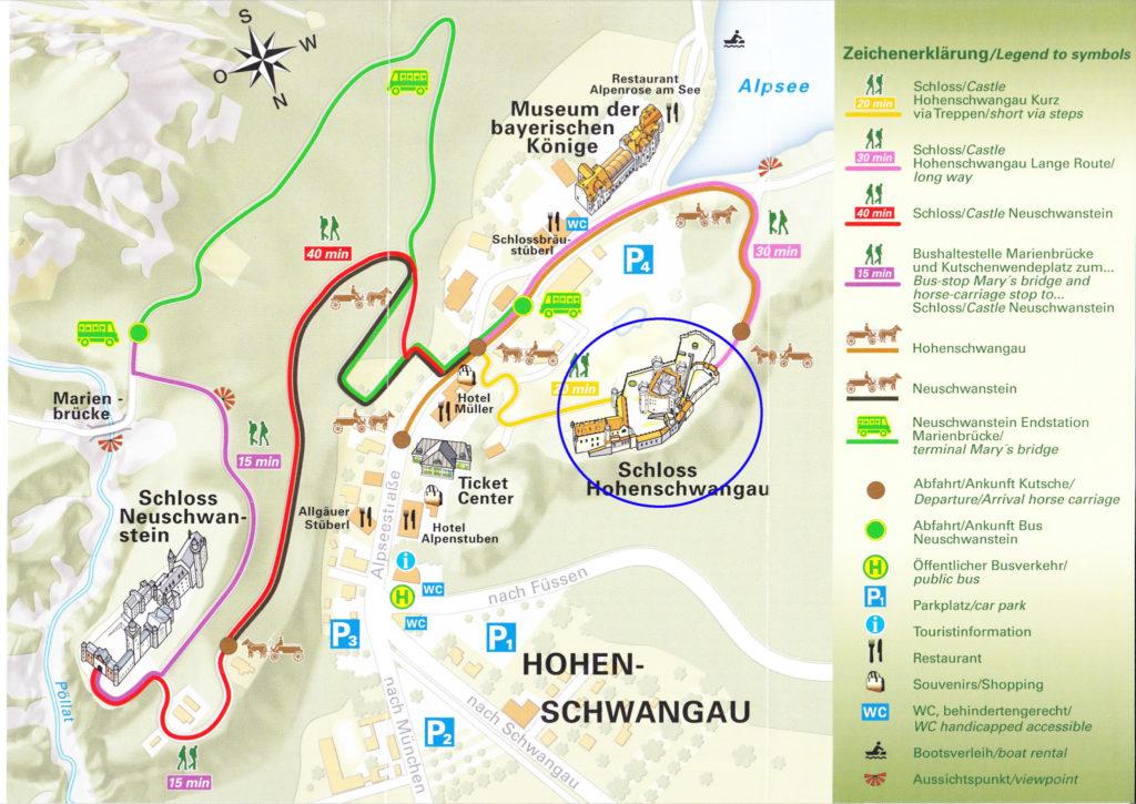 ホーエンシュヴァンガウ城MAP