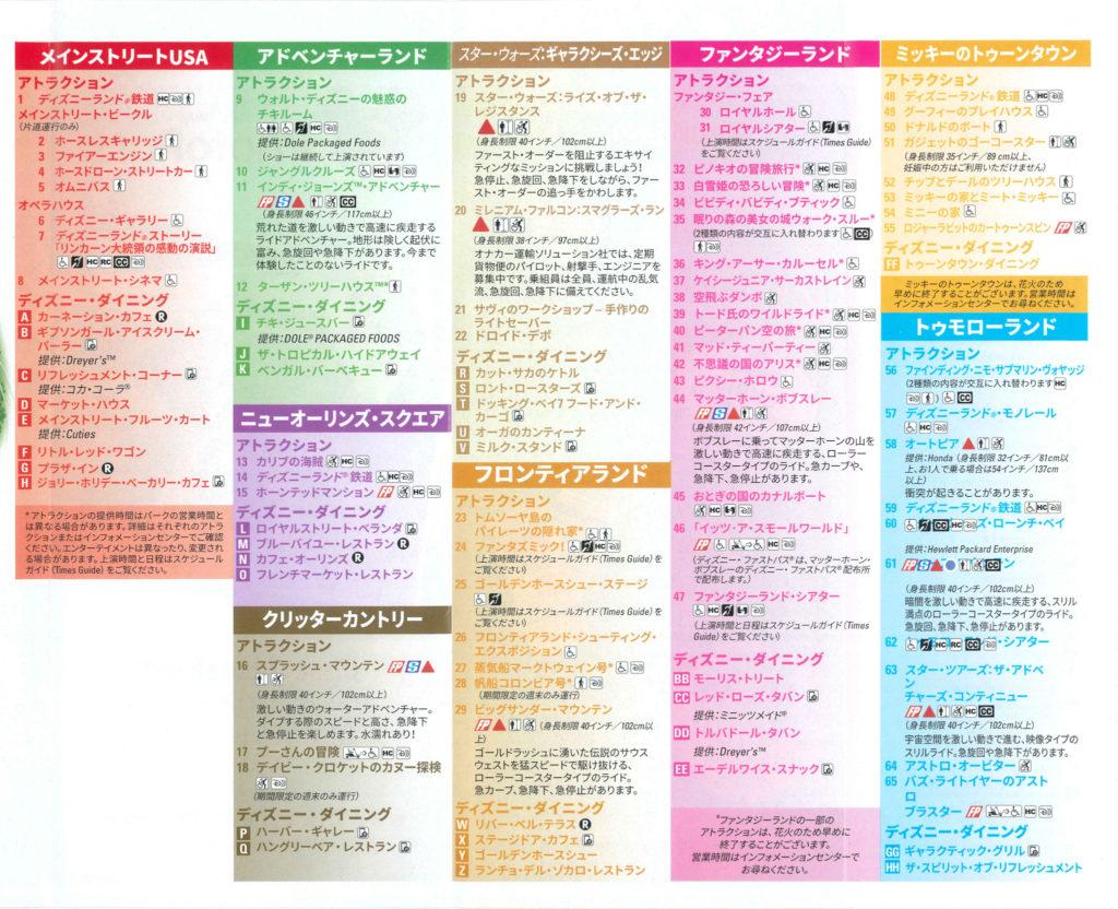 ディズニーランド日本語版ガイドマップ