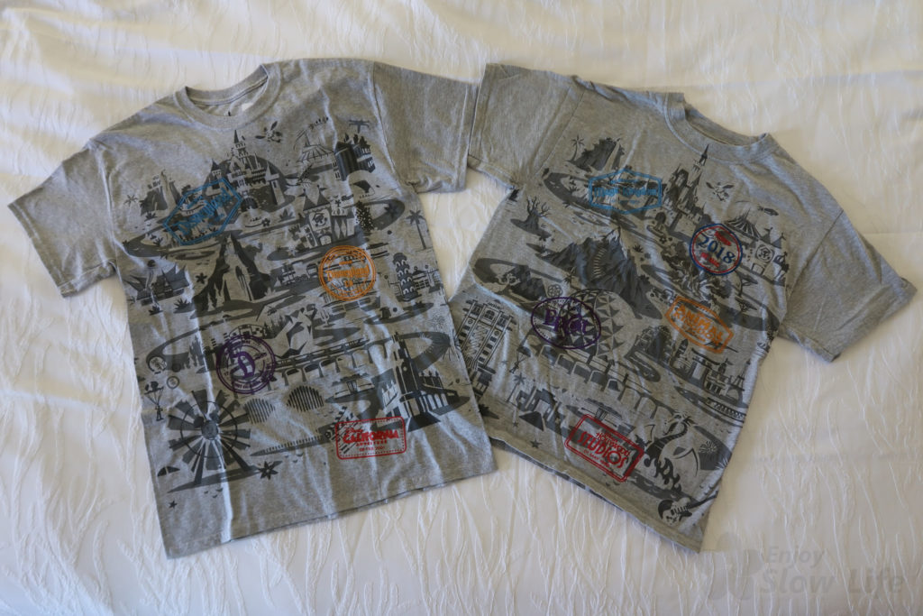 WDW DLR Tシャツを比べてみました