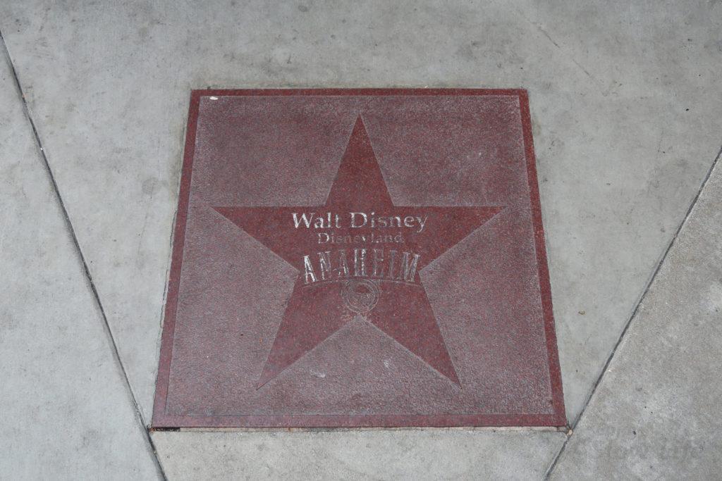 DLR ウォルト・ディズニー 星形のプレート