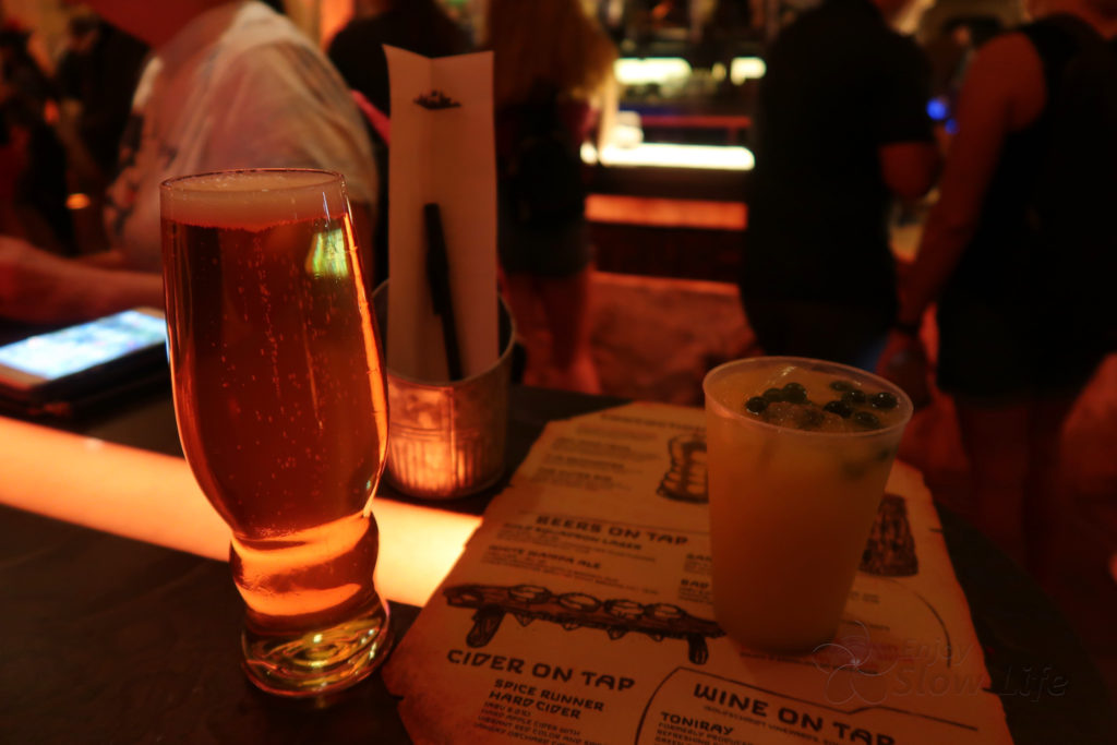 オーガのカンティーナ ビールとジュース