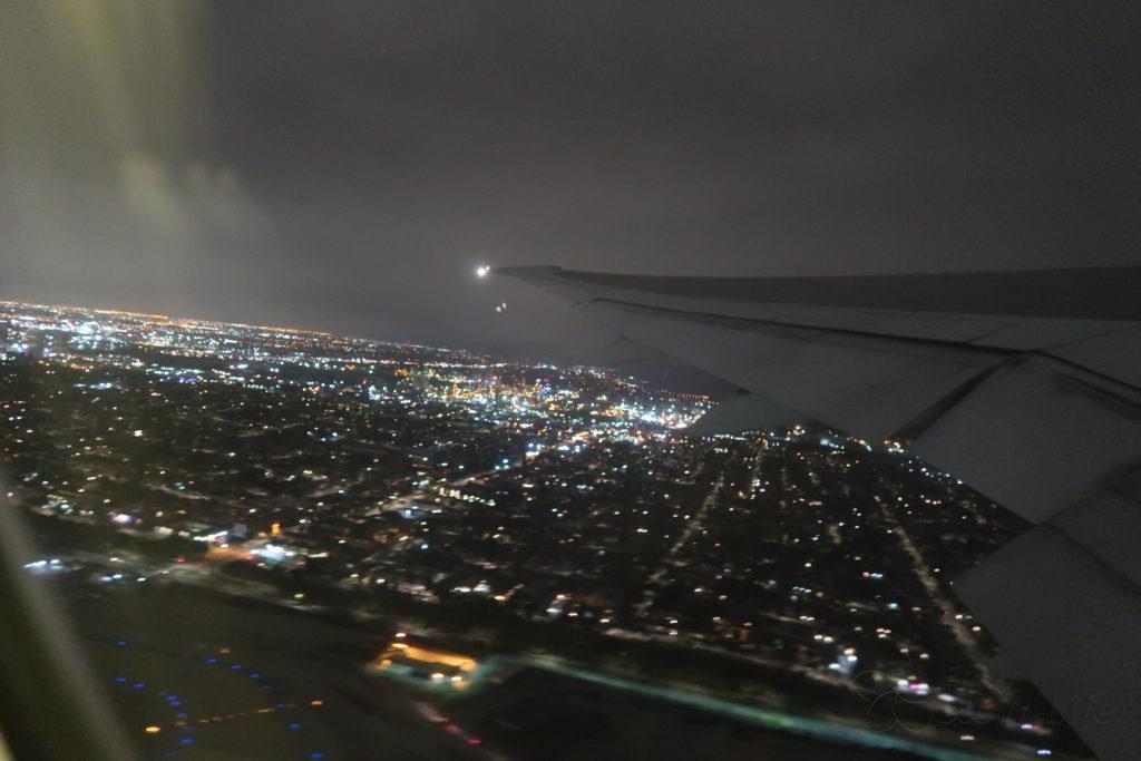 LAX 離陸 羽田へ