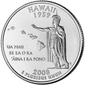 ハワイ州25セント硬貨