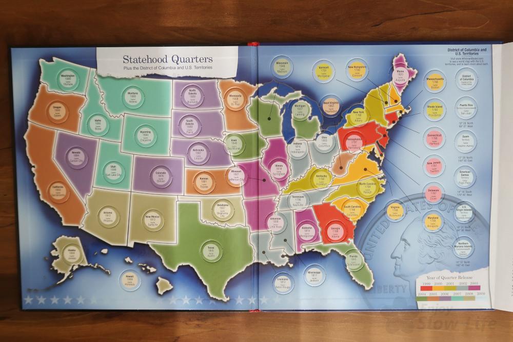 50州25セント硬貨コレクションブック