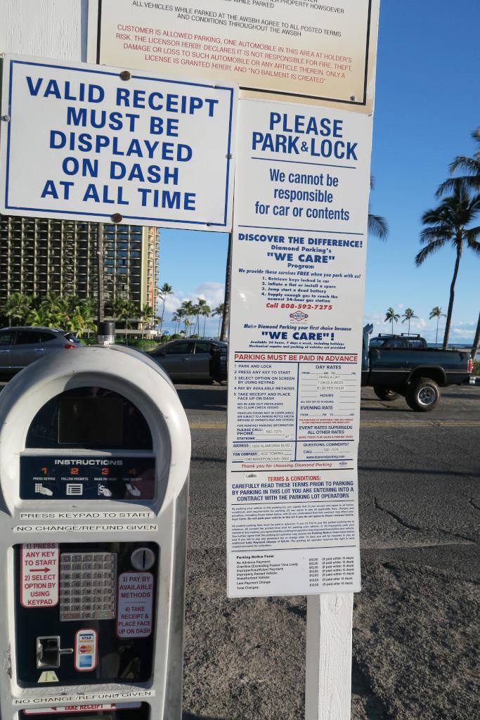 ハワイ駐車場