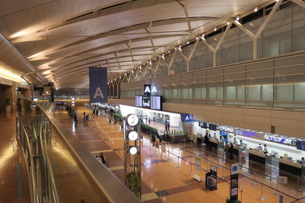 2020年3月23日羽田空港の様子