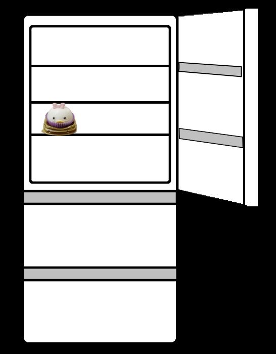 冷蔵庫でくつろぐデイジー