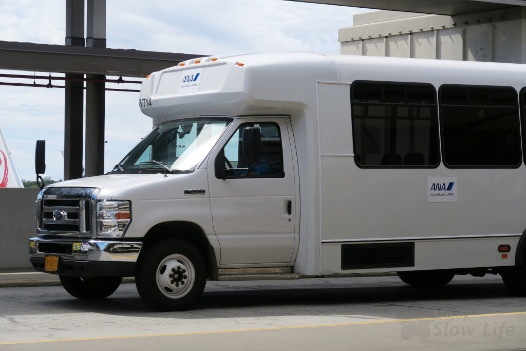 ホノルル空港ANAラウンジ行きバス